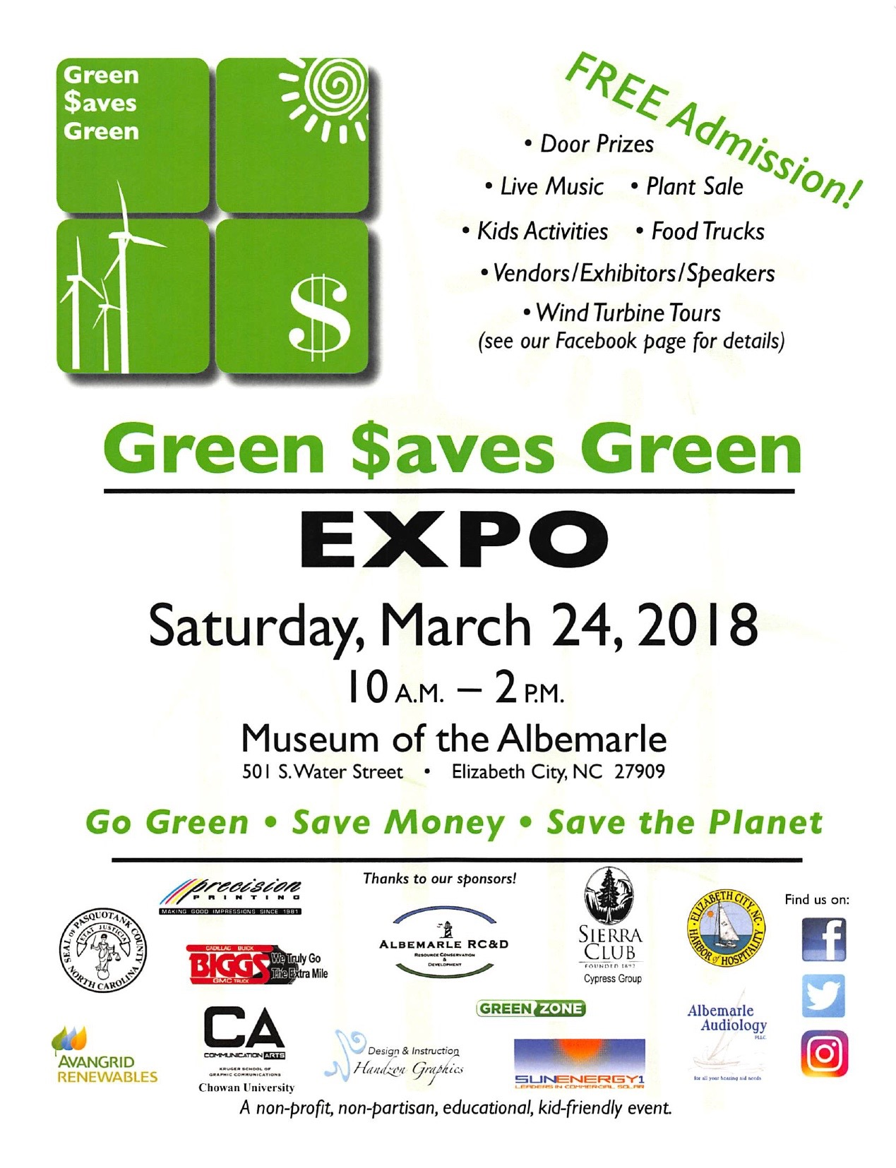 flyer for green expo