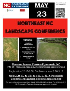 Cover photo for 2018 Northeast NC Landscape Conference