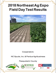 Cover page of the 2018 Northeast Ag Expo Field Day Test Results